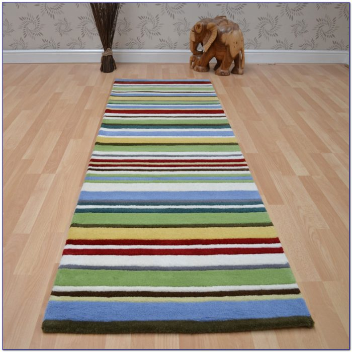 Green Striped Runner Rug Rugs Home Design Ideas