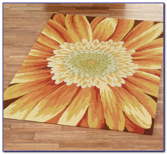 Round Sunflower Area Rugs Rugs Home Design Ideas