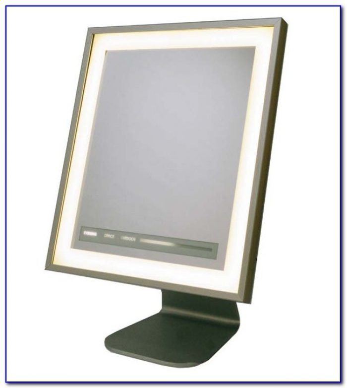 Tabletop Makeup Mirror With Lighted