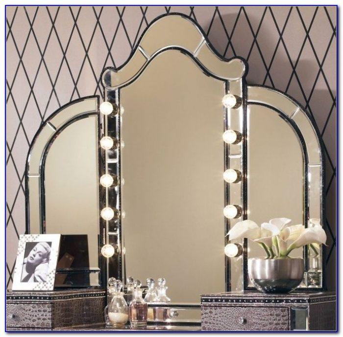 diy tabletop vanity mirror with lights tabletop home design ideas r6dvojlqmz65142. Black Bedroom Furniture Sets. Home Design Ideas