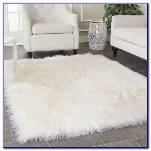 White Faux Fur Rug Large Rugs Home Design Ideas