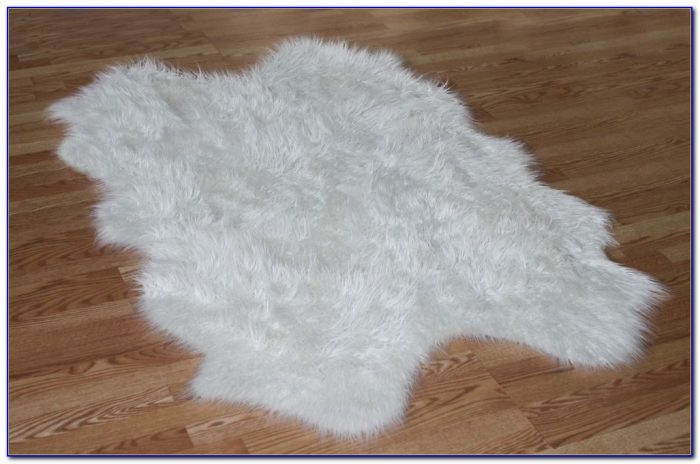 White Faux Fur Rug 5 215 7 Droughtrelief Org