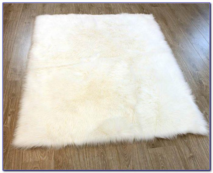 White Faux Sheepskin Rug