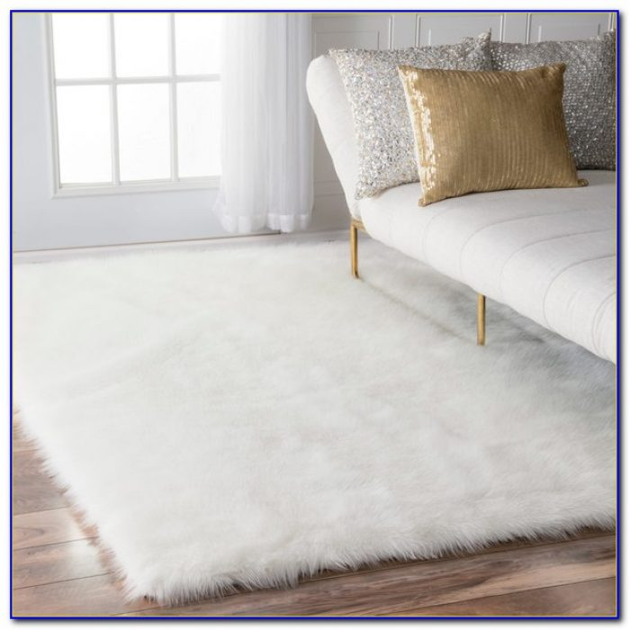 White Plush Rug For Nursery