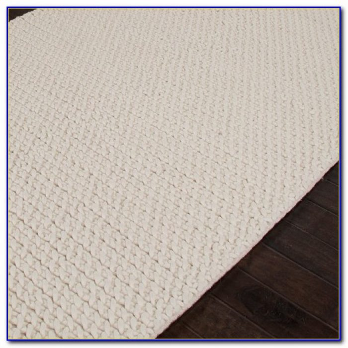 White Textured Area Rugs