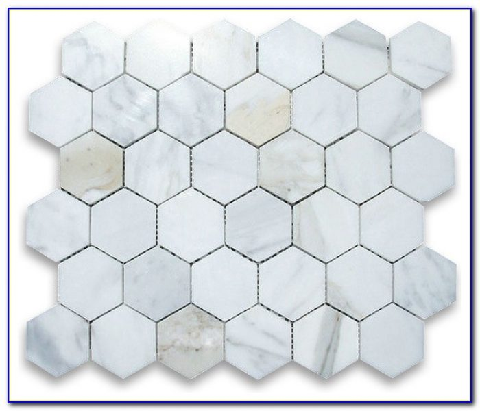 2 Hexagon Marble Floor Tile