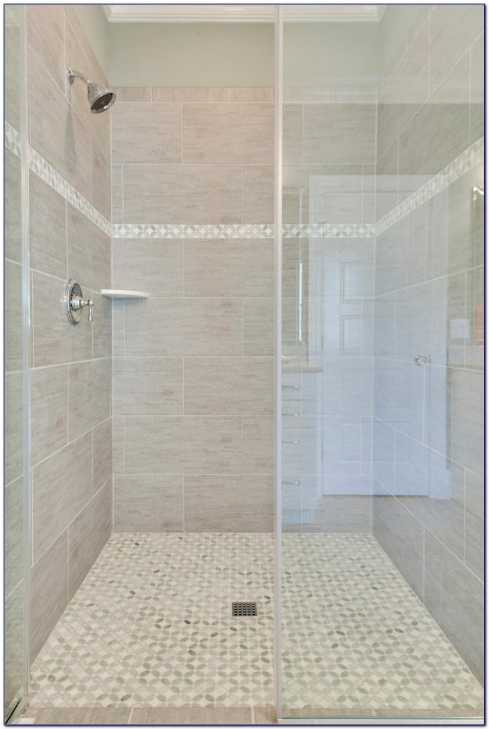 Accent Tile In Shower Niche