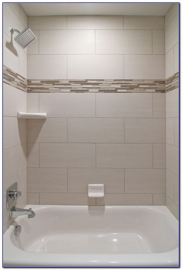 Accent Tile Strip In Shower