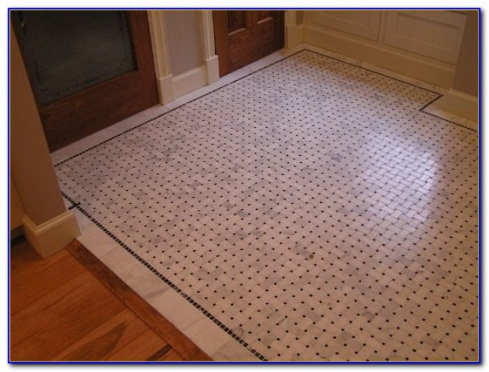 Basket Weave Ceramic Tile Floor
