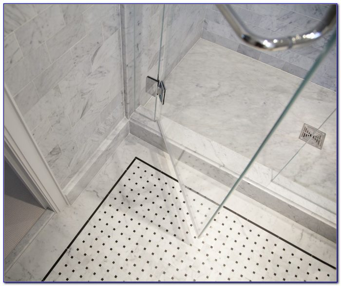 Basket Weave Tile Floor Bathroom