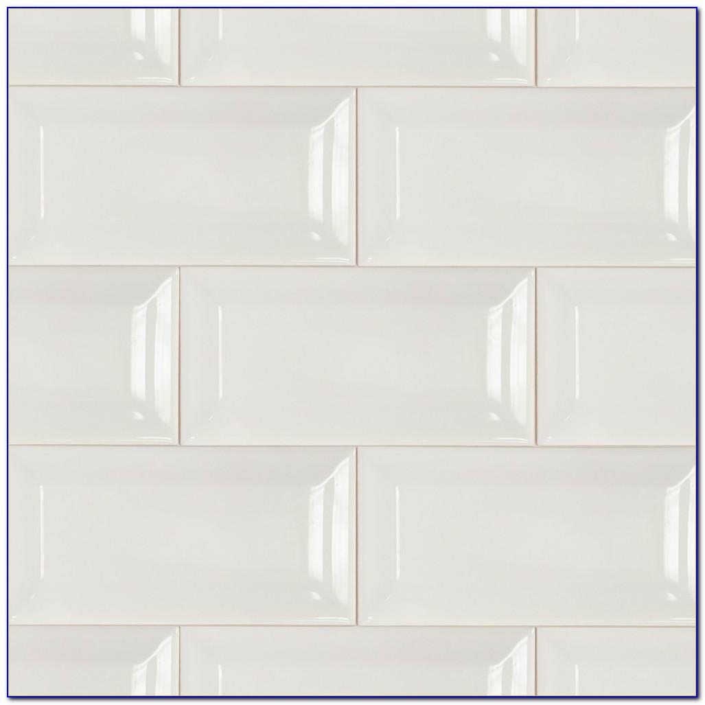Beveled White Subway Tile Shower Tiles Home Design