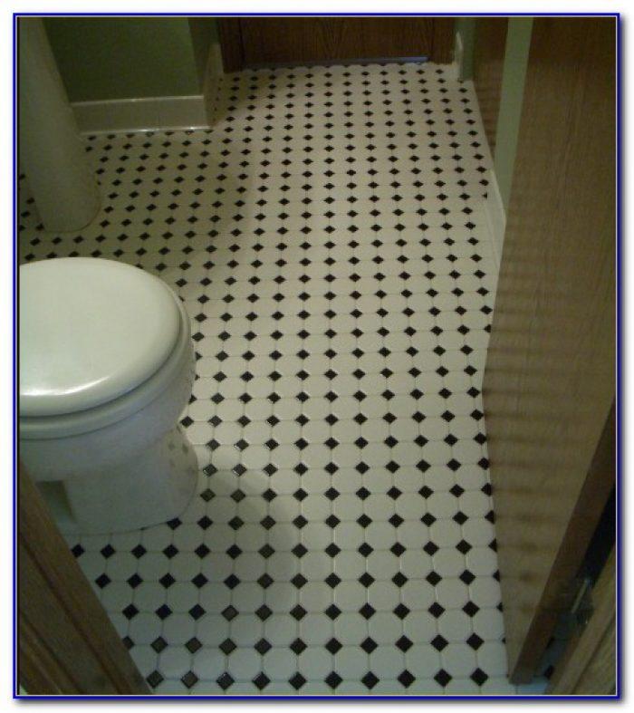 Black Mosaic Shower Floor Tile
