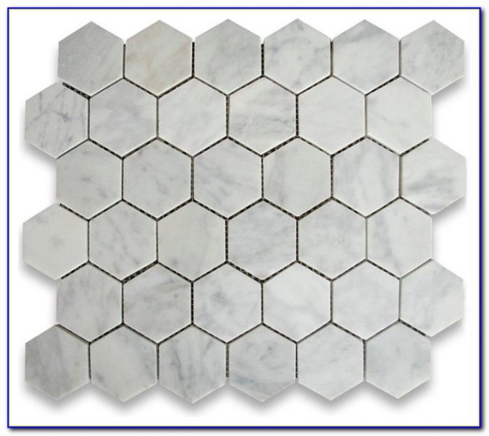 Carrara Marble Hex Tile Floors