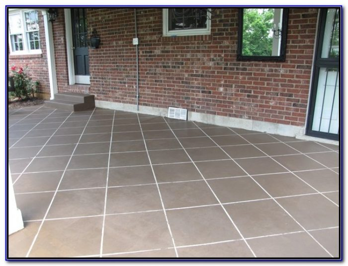 Ceramic Tile Over Concrete Patio