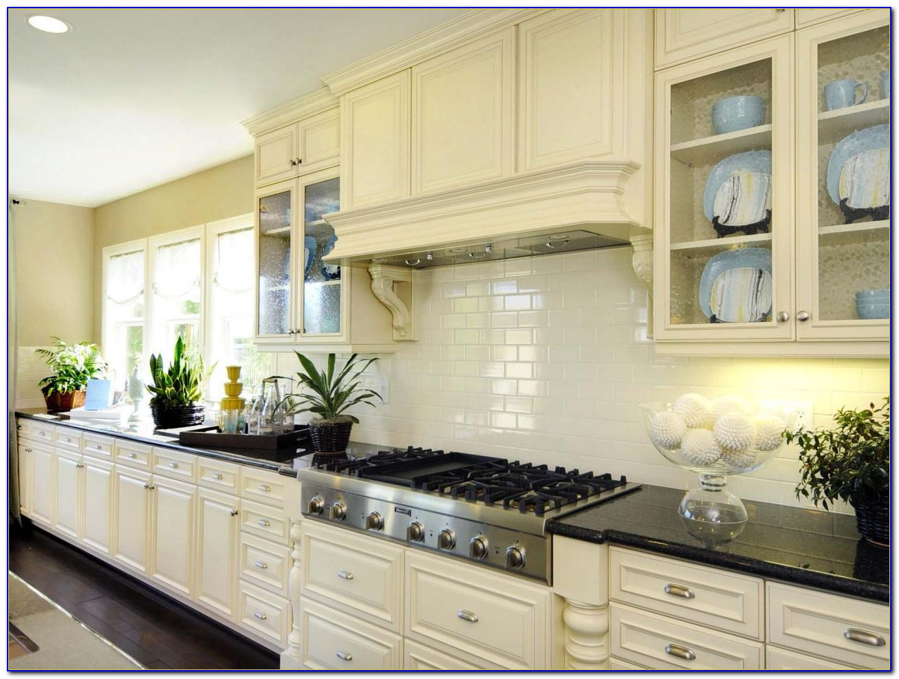 Cream Subway Tile Backsplash Ideas Tiles Home Design
