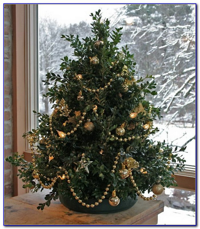 Decorated Tabletop Christmas Trees Artificial
