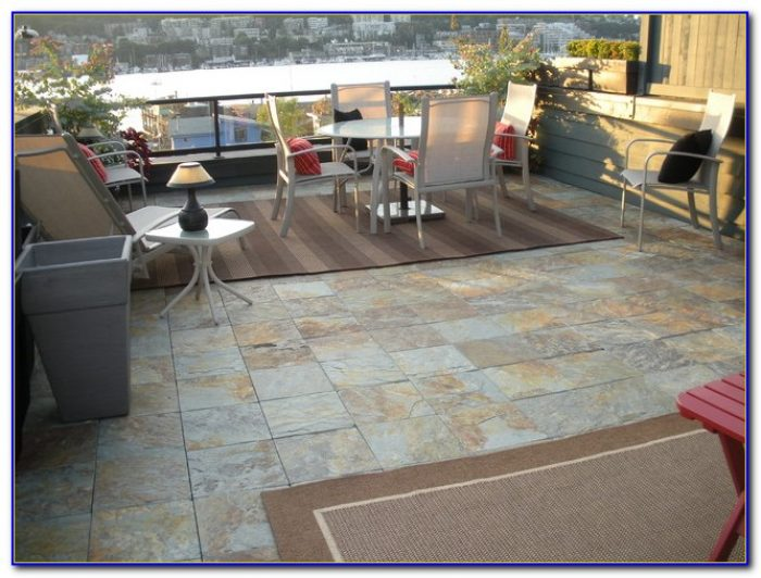 Exterior Tile Over Concrete Patio