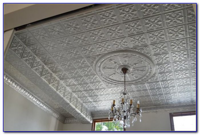 Faux Pressed Tin Ceiling Tiles