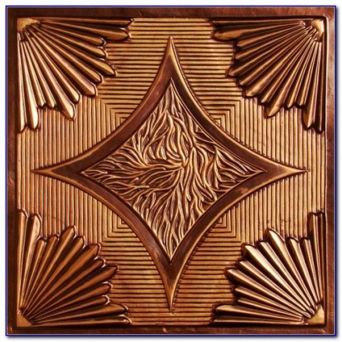 Faux Tin Ceiling Tiles Copper