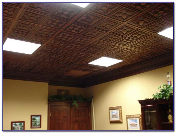 Faux Tin Ceiling Tiles Installation