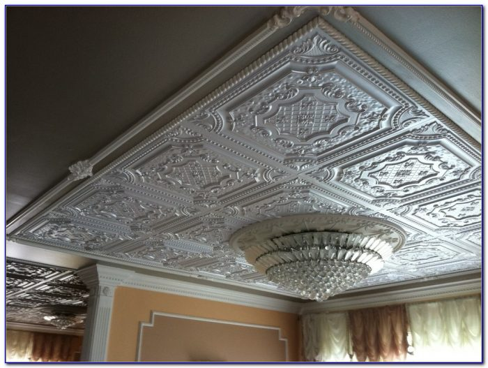 Faux Tin Ceiling Tiles Nail Up
