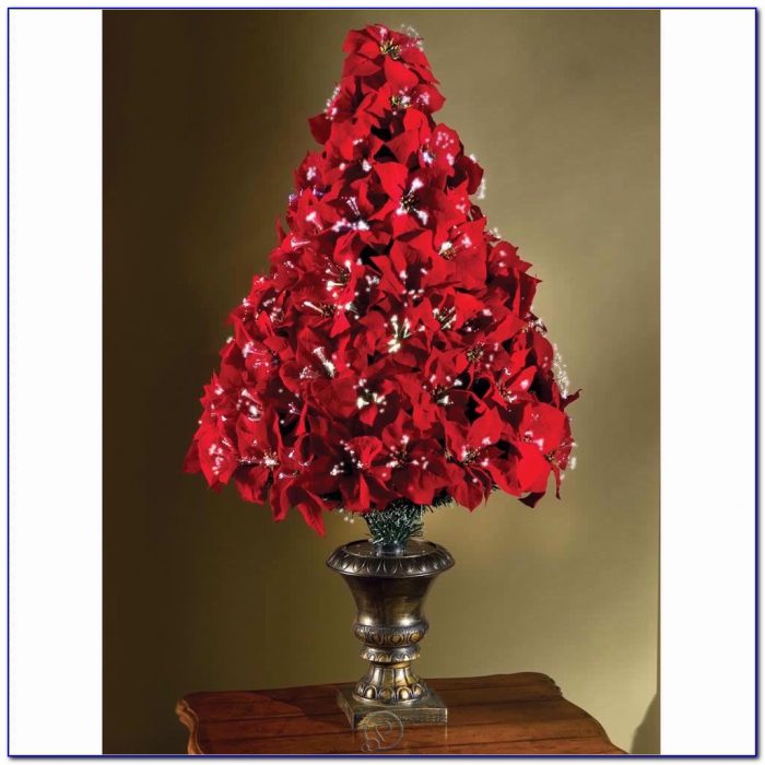 Fibre Optic Tabletop Christmas Trees