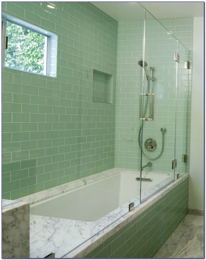 Glass Subway Tile Bathrooms
