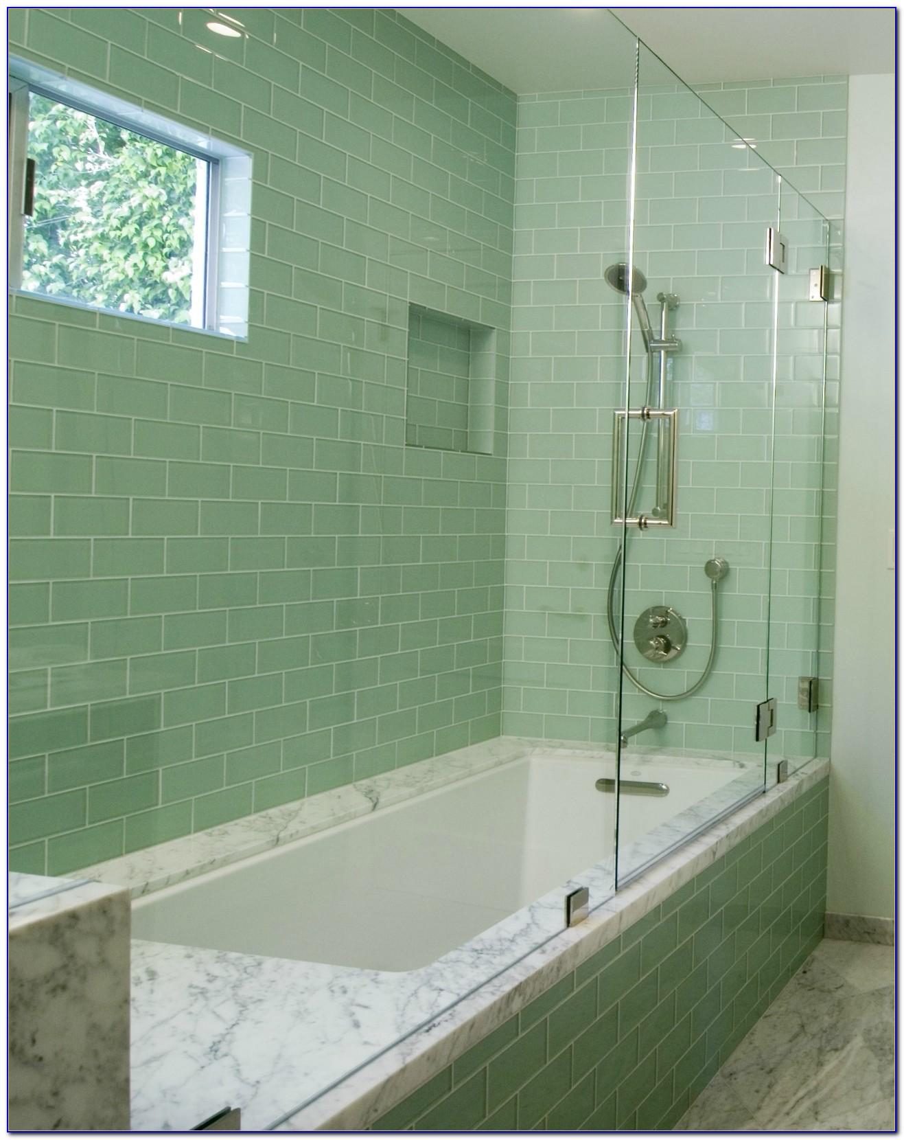 Glass Subway Tile Bathrooms