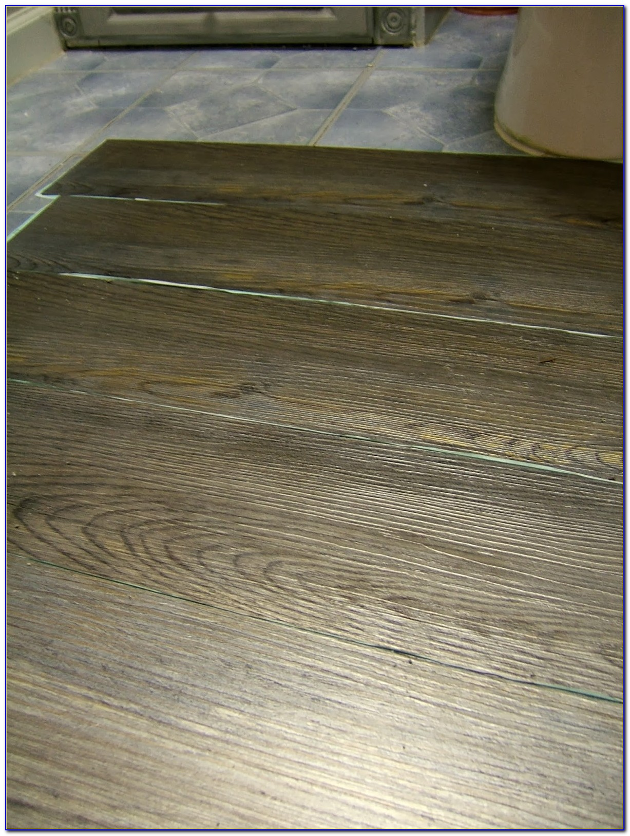 Groutable Peel And Stick Tile Flooring