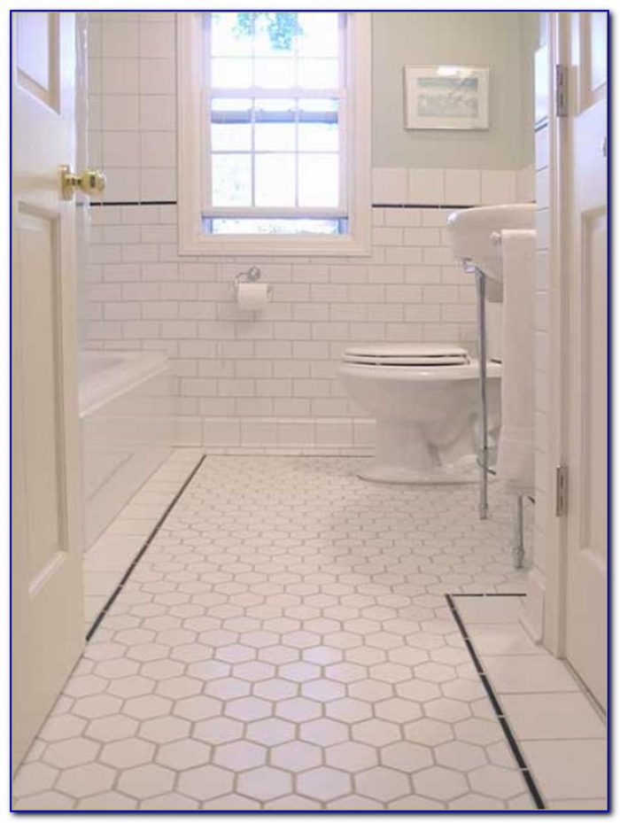 Hexagon Mosaic Bathroom Floor Tiles