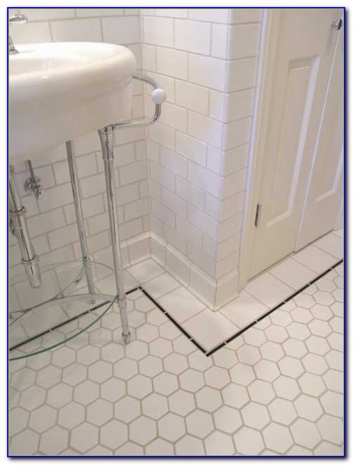 hex tile bathroom hexagon bathroom floor tile ideas tiles home design 13109