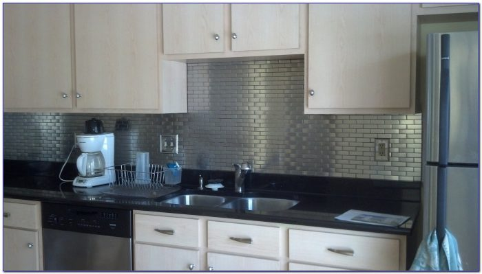 Installing Stainless Steel Subway Tile Backsplash