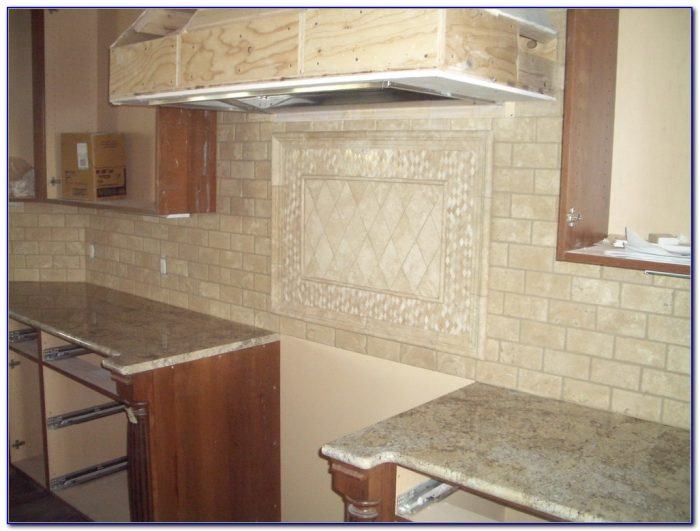 Installing Travertine Subway Tile Backsplash