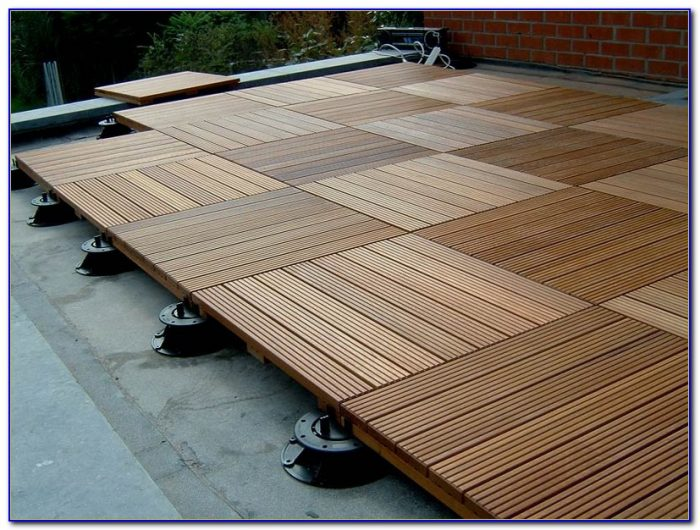 Interlocking Wood Deck Floor Tiles