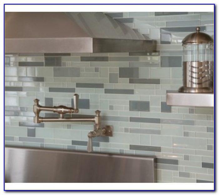 Kitchen Glass Tile Backsplash Edges