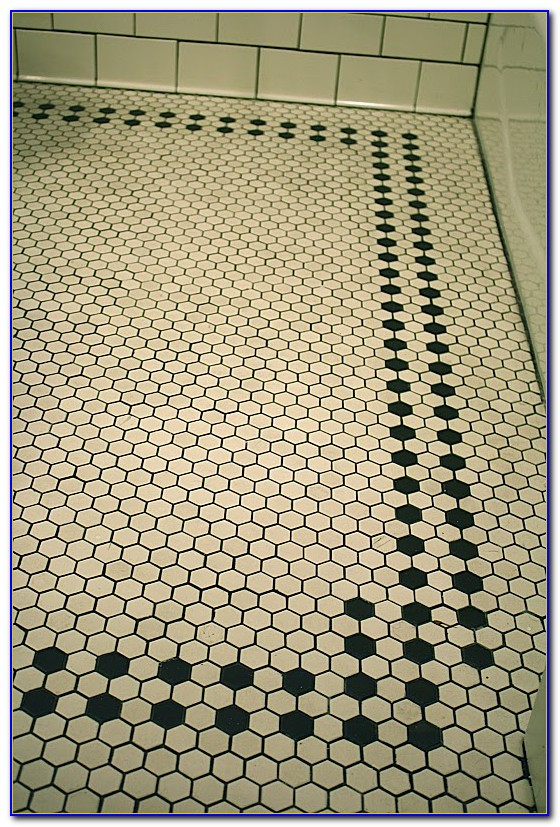 Large Hexagon Bathroom Floor Tile