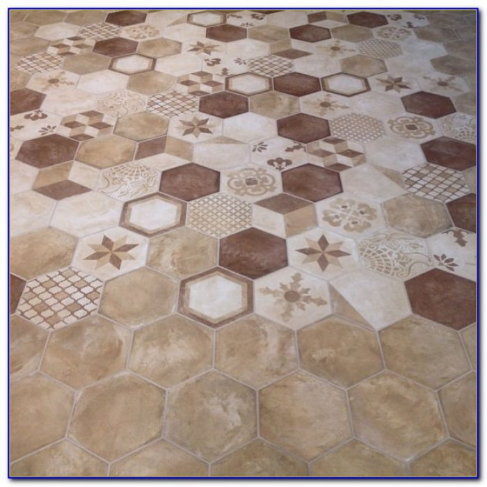 Large Hexagon Marble Floor Tile