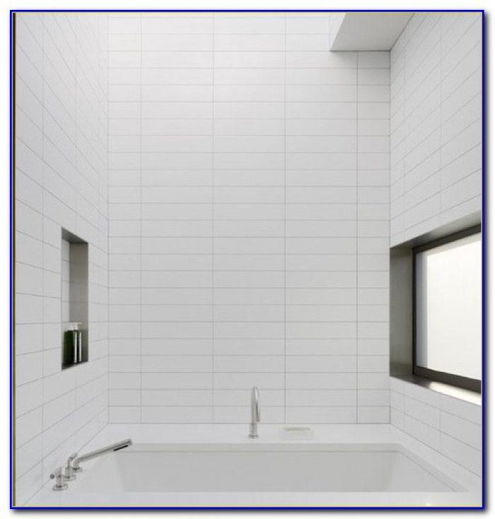 Large Matte White Subway Tile