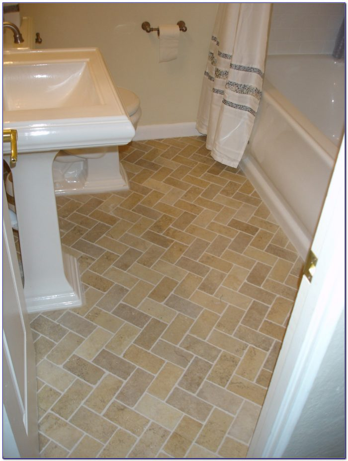 Lay Out A Herringbone Pattern Tile Floor