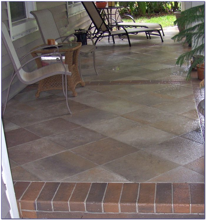 Laying Tile Over Concrete Patio