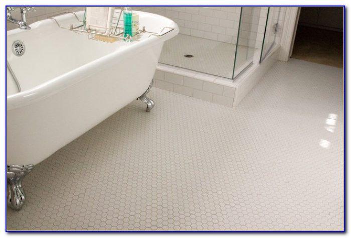 Marble Hexagon Bathroom Floor Tile