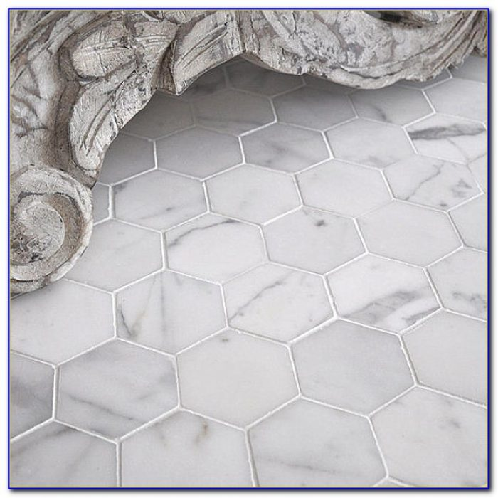 Marble Hexagon Floor Tile Bathroom