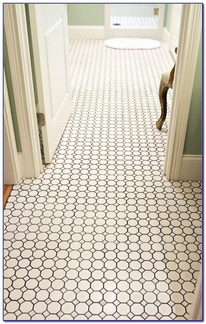 Marble Hexagon Tile Bathroom Floor