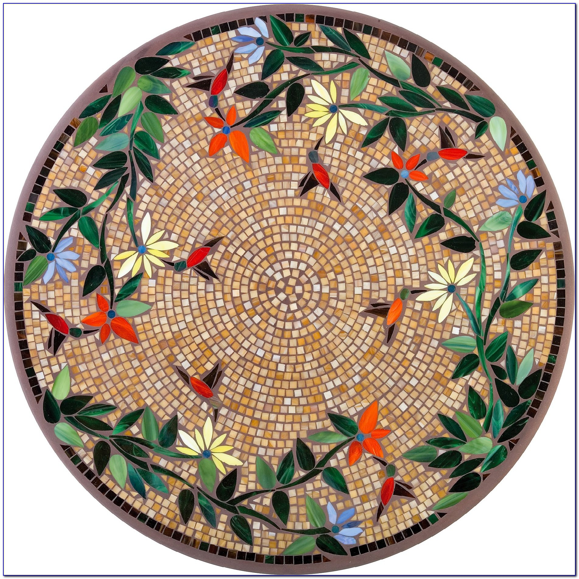 Round Mosaic Tile Patterns: Mosaic Round Table Top Patterns Download Page
