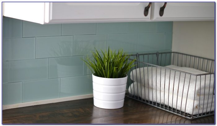 Peel And Stick Glass Tile Blue