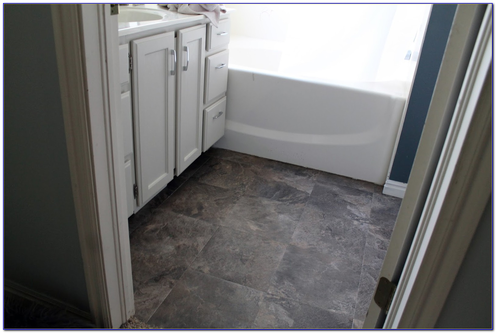 Peel And Stick Tile Bathroom Flooring