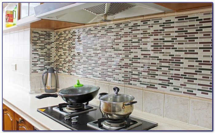 Peel And Stick Vinyl Tile Backsplash