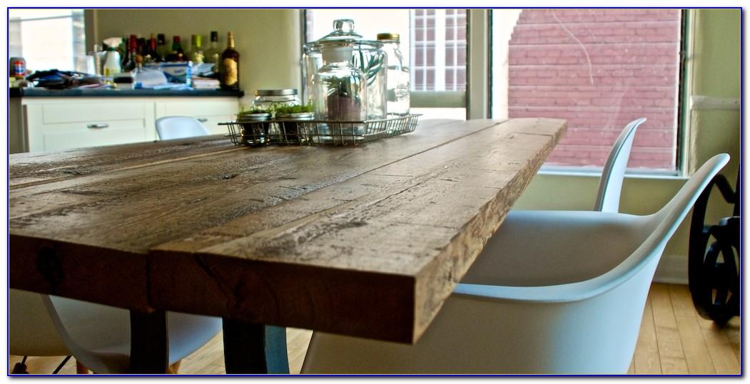 Reclaimed Wood Table Top Restaurant