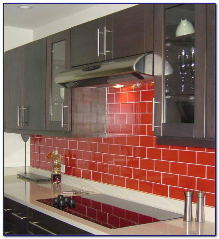 Red Tiles For Kitchen Backsplash