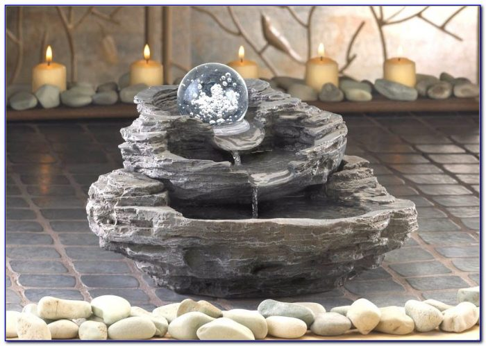 River Rock Tabletop Fountain